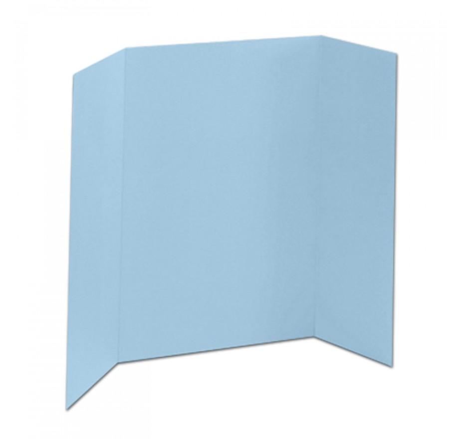 46 X 48 1 Ply Light Blue Tri Fold Display Board 18 Boards Box