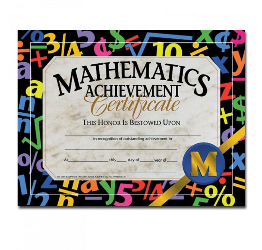certificates mathematics achievement certificates science fair
