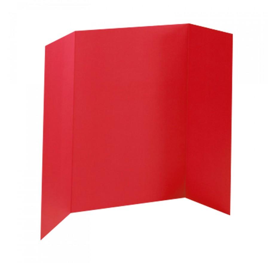 36 X 48 Foam Red Tri Fold Display Board 24 Boards Box 640 Ea