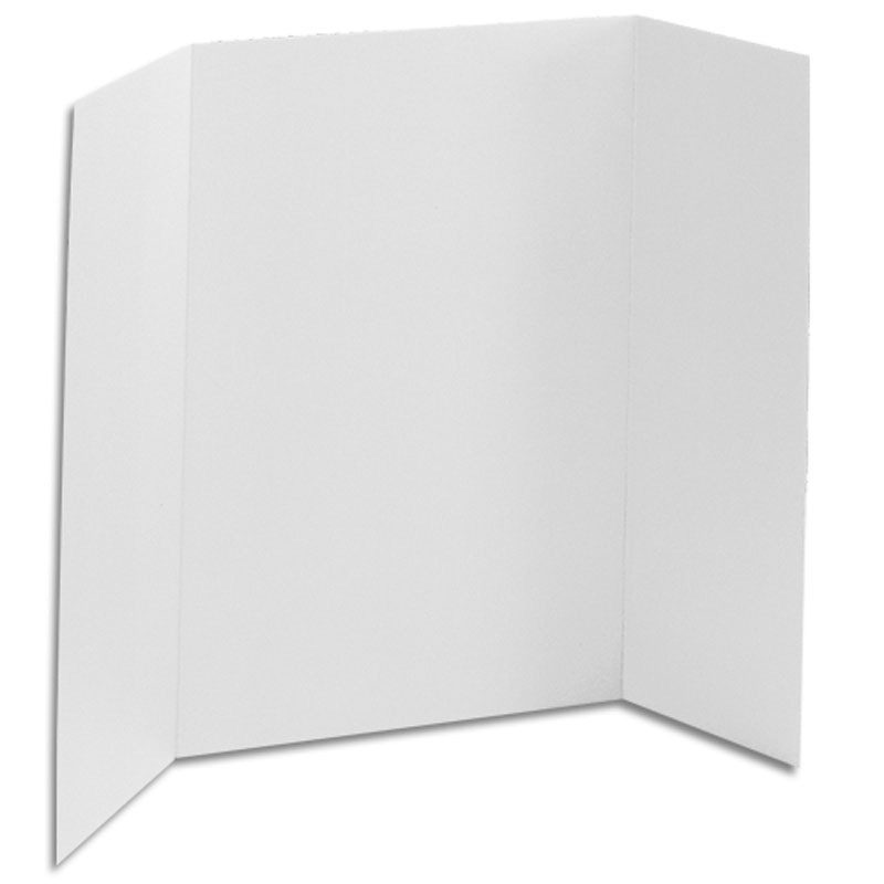 24 x 48 1 ply white tri fold display board 36 boards