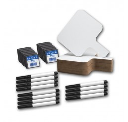 Dry Erase Paddles - 8x9.75 Rectangle Kit