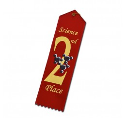 Atom Ribbon - Second Place - Red