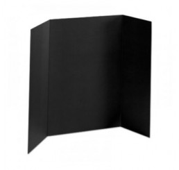 36 x 48 - Foam Black Tri Fold Display Board (12 Boards / Box)