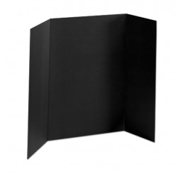 36 x 48 - 1 Ply Black Tri Fold Display Board (25 Boards / Box) $3.40 ea