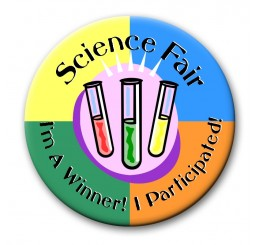Science Fair Award Button- Participant