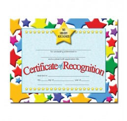 Certificates - Recognition