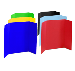 36 x 48 - Foam Assorted Tri Fold Display Board (24 Boards / Box) $6.40 ea