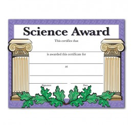 Science Certificates - Classic Columns