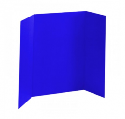36 x 48 - Foam Dark Blue Tri Fold Display Board (12 Boards / Box)