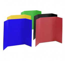 36 x 48 - Heavy Duty Assorted Tri Fold Display Board (18 Boards / Box) $4.95
