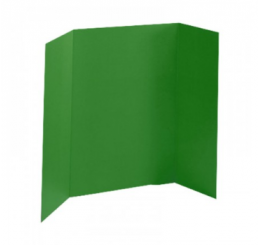 36 x 48 - Foam Green Tri Fold Display Board (12 Boards / Box)