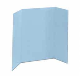 36 x 48 - Foam Light Blue Tri Fold Display Board (12 Boards / Box)