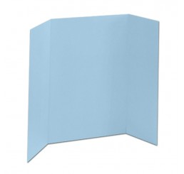 36 x 48 - 1 Ply Light Blue Tri Fold Display Board (25 Boards / Box) $3.40 ea