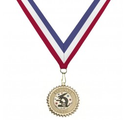 18 Karat Gold Science Medal - Tri-Color