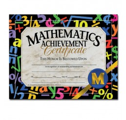 Certificates - Mathematics Achievement