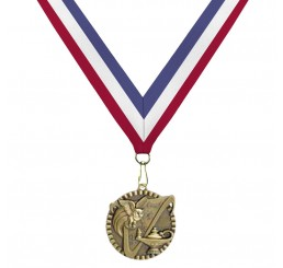 Antique Gold General Knowledge Medal - Tri-Color