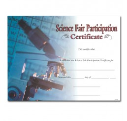 Science Certificates - Microscope
