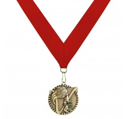Antique Gold Science Medal - Second Place