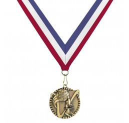 Antique Gold Science Medal - Tri-Color