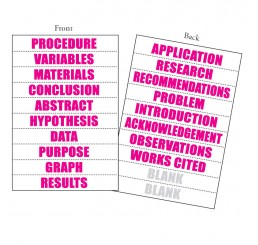 Perforated Title Sheets - 18 Word - Pink