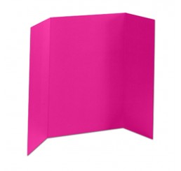 32 x 48 - 1 Ply Pink Tri Fold Display Board (30 Boards / Box) $2.85 ea