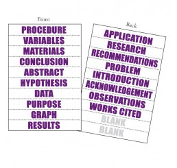 Perforated Title Sheets - 18 Word - Purple
