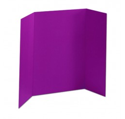32 x 48 - 1 Ply Purple Tri Fold Display Board (30 Boards / Box) $2.85 ea