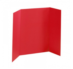 36 x 48 - Foam Red Tri Fold Display Board (12 Boards / Box)