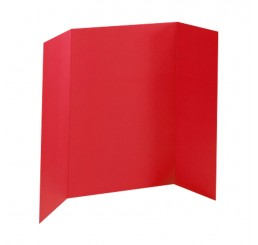 36 x 48 - Heavy Duty Red Tri Fold Display Board (18 Boards / Box) $4.95 ea