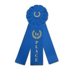Rosette Ribbon - First Place - Blue