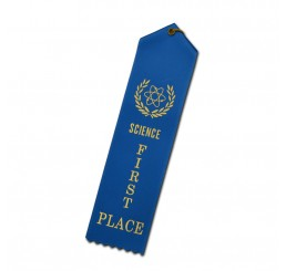 Custom Standard Ribbon - First Place - Blue