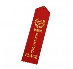 Standard Ribbon - Second Place - Red