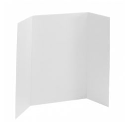 36 x 48 - Foam White Tri Fold Display Board (12 Boards / Box)
