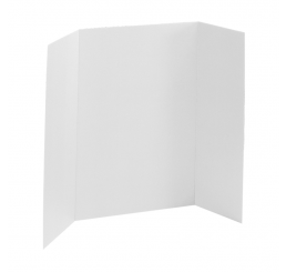36 x 48 - 1 Ply White Tri Fold Display Board (25 Boards / Box) $2.45 each