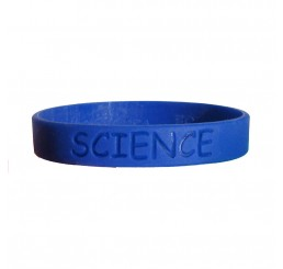 Science Fair Silicone Wristband - Solid Blue