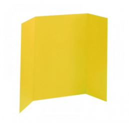 36 x 48 - Foam Yellow Tri Fold Display Board (12 Boards / Box)