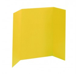 36 x 48 - Foam Yellow Tri Fold Display Board (24 Boards / Box) $6.40 ea